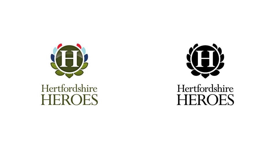 herts heroes logo design