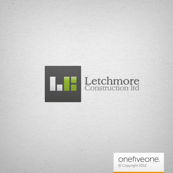 letchmore construction logo design