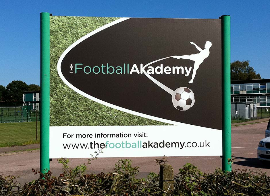 football akademy sign front
