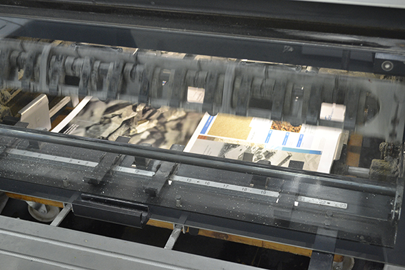 GRS brochure running on press