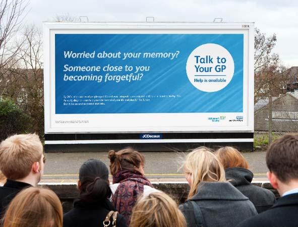 dementia campaign billboard design